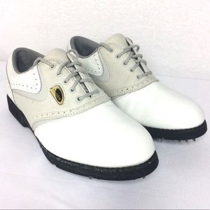 Vintage white Oxford golf tennis shoe sneaker flat